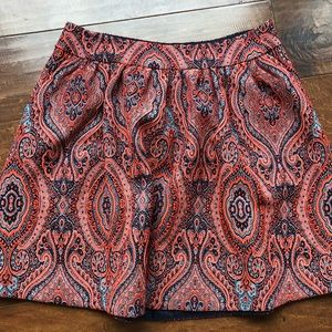 High-Waisted Paisley Skirt from Anthropologie